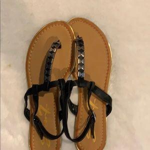 Black Sandals brand new size 9